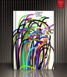 Cubierta colorida en un estilo linear Foto de archivo