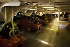 Cubierta de arma USS Constituton Imagen de archivo