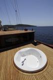 Cubierta de barco de lujo Imagen de archivo