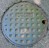 Cubierta de boca de Chicago fotos de archivo