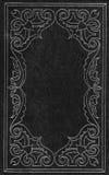 Cubierta de cuero negra y de plata Foto de archivo libre de regalías