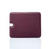 Cubierta de cuero roja de la tableta Fotos de archivo