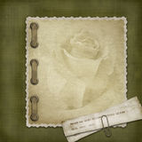 Cubierta de Grunge para un álbum Imagenes de archivo