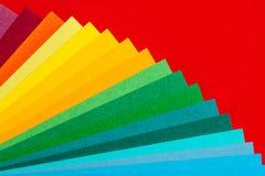 Cubierta de la fan del arco iris fotografía de archivo