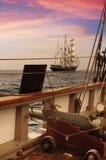 Cubierta de la nave de pirata imágenes de archivo libres de regalías