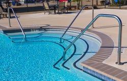 Cubierta de la piscina Foto de archivo libre de regalías