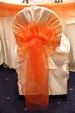 Cubierta de la silla de la boda Imagen de archivo