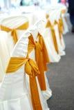 Cubierta de la silla de la boda Fotografía de archivo libre de regalías