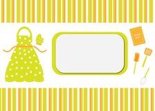 Cubierta de la tarjeta del cocinero/de libro de la receta Fotos de archivo libres de regalías