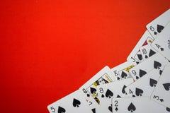 Cubierta de las tarjetas usadas como esquina Fotografía de archivo