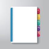 Cubierta de libro con Tab Design Style Template Imagenes de archivo
