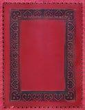 Cubierta de libro de la vendimia en rojo Fotos de archivo libres de regalías