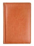 Cubierta de libro del diario del cuero de Brown Imagen de archivo libre de regalías