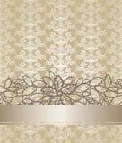Cubierta de libro floral del color de oro del champán Imágenes de archivo libres de regalías