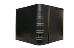 Cubierta de libro negro gruesa aislada Fotos de archivo libres de regalías