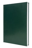 Cubierta de libro verde en blanco del libro encuadernado Fotos de archivo