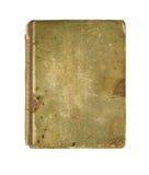 Cubierta de libro viejo, textura del vintage, aislada en blanco Fotos de archivo