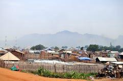 Cubierta de los tugurios en Juba Imagenes de archivo