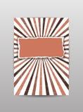 Cubierta de papel rasgada, folleto, aviador, fondo en color marrón Ilustración del vector ilustración del vector