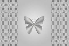 Cubierta de plata de la computadora portátil de la mariposa Ilustración del Vector
