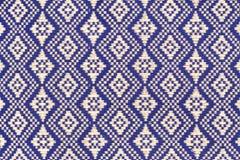 Cubierta de seda de la textura de la almohada del amortiguador del estilo tailandés Imágenes de archivo libres de regalías