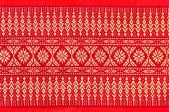 Cubierta de seda de la textura de la almohada del amortiguador del estilo tailandés Fotos de archivo