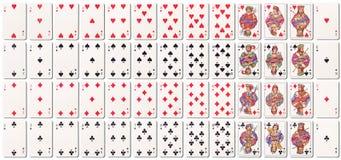 Cubierta de tarjetas llena con las sombras