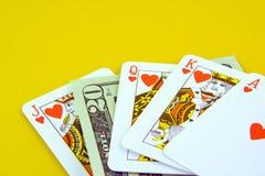 Cubierta de tarjetas que juegan Foto de archivo libre de regalías