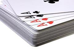 Cubierta de tarjetas que juegan Imágenes de archivo libres de regalías