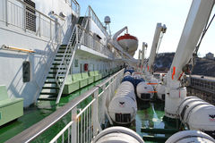 Cubierta de un transbordador Silja Line Imagen de archivo