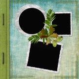 Cubierta del álbum con los marcos Imagenes de archivo