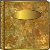 Cubierta del álbum de la hoja de oro Fotografía de archivo libre de regalías