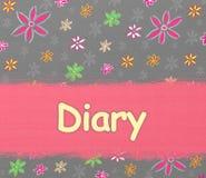 Cubierta del álbum del diario ilustración del vector