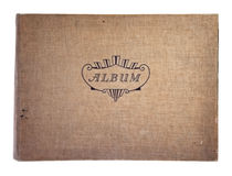 Cubierta del álbum fotográfico viejo Imágenes de archivo libres de regalías