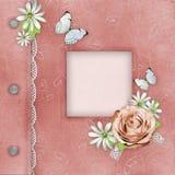 Cubierta del álbum rosado para las fotos Fotografía de archivo