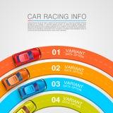 Cubierta del arte de la información de las carreras de coches Imágenes de archivo libres de regalías