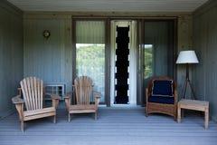 Cubierta del balcón de la casa de playa imágenes de archivo libres de regalías
