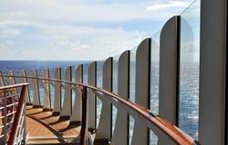 Cubierta del barco de cruceros Imágenes de archivo libres de regalías