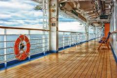 Cubierta del barco de cruceros Fotos de archivo libres de regalías