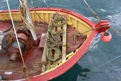 Cubierta del barco de pesca Foto de archivo libre de regalías