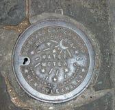 Cubierta del contador del agua de New Orleans Fotos de archivo
