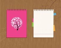 Cubierta del cuaderno y diseño de la paginación Fotos de archivo libres de regalías