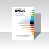 Cubierta del diseño del folleto del negocio - plantilla del vector Foto de archivo