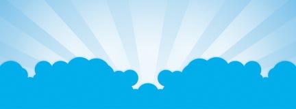Cubierta del facebook de la nube Fotografía de archivo