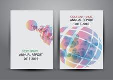 Cubierta del informe anual, fondo colorido del diseño del informe de la cubierta Imagen de archivo libre de regalías