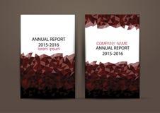 Cubierta del informe anual, fondo colorido del diseño del informe de la cubierta Imágenes de archivo libres de regalías