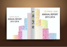 Cubierta del informe anual, fondo colorido del diseño del informe de la cubierta Foto de archivo