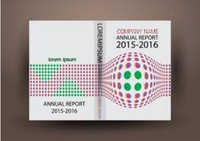 Cubierta del informe anual, fondo colorido del diseño del informe de la cubierta Fotografía de archivo
