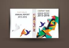 Cubierta del informe anual, fondo colorido del diseño del informe de la cubierta Imagen de archivo
