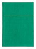 Cubierta del Libro verde de la materia textil del vintage con el modelo del oro Imagen de archivo